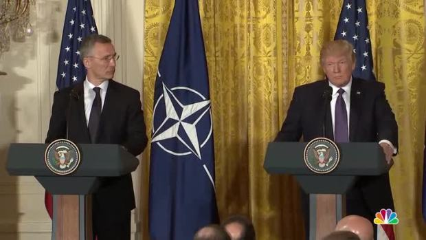 Trump Praises NATO, Pledges Support in First WH Meeting