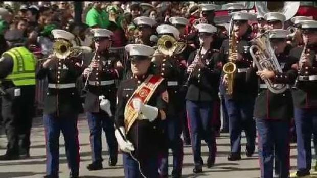 U.S. Marine Band Marches Through Boston