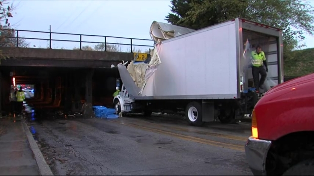 Raw: Pizza Truck Crashes, Spilling Dough On Road