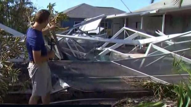 [NECN] Uninsured Resident Deals with Irma Aftermath