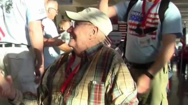 [NECN] Veterans Go On Honor Flight for Father's Day