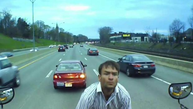 [NECN] Video Catches Man Jumping Onto School Bus on Highway