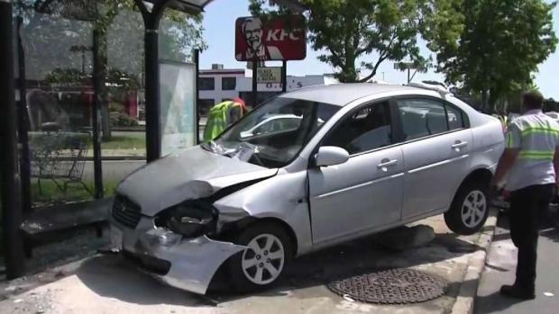 [NECN] Video Shows Bus Stop Crash That Hurt 2 in Lynn