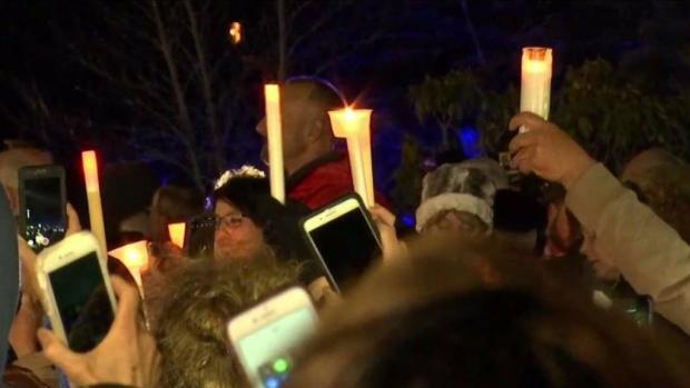 [NECN] Vigil Held in Honor of Fallen Officer