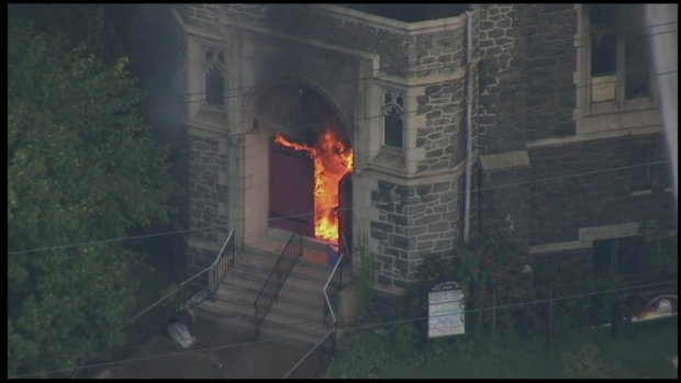 [NATL-PHI] Raw Video: Flames Engulf Philly Church
