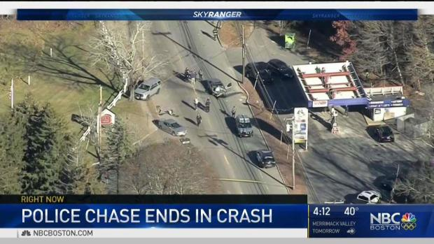 [NECN] Multiple Injuries When Car Crashes Following Police Chase