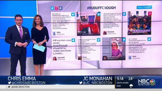 [NECN] Tweetstorm Launched to Help Classmate With Rare Disease