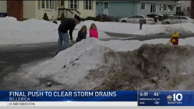 [NECN] Crews Want Help Clearing Drains Before Flooding