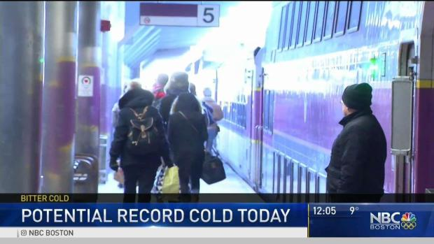 [NECN] MBTA Riders Deal With Extreme Cold