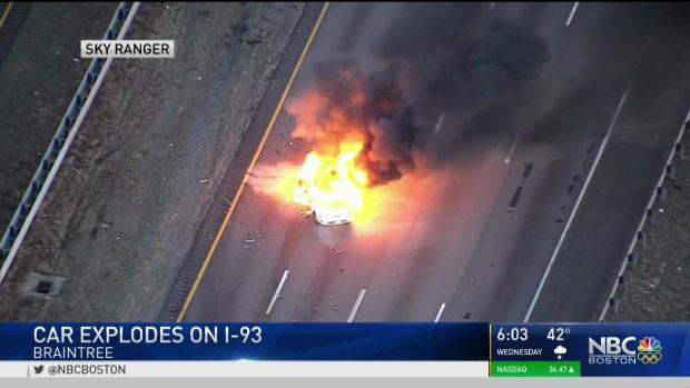 [NECN] Drivers Pull Woman From Burning Car