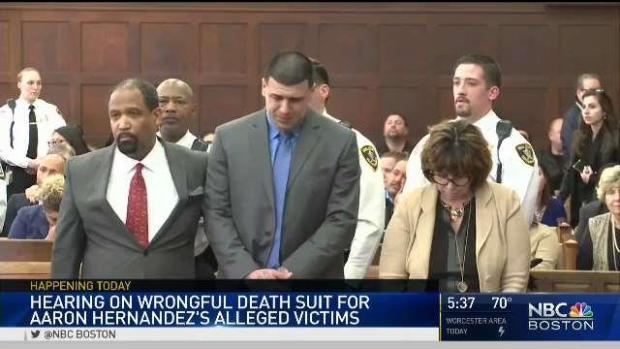 [NECN] Wrongful Death Lawsuit Against Hernandez Estate in Court