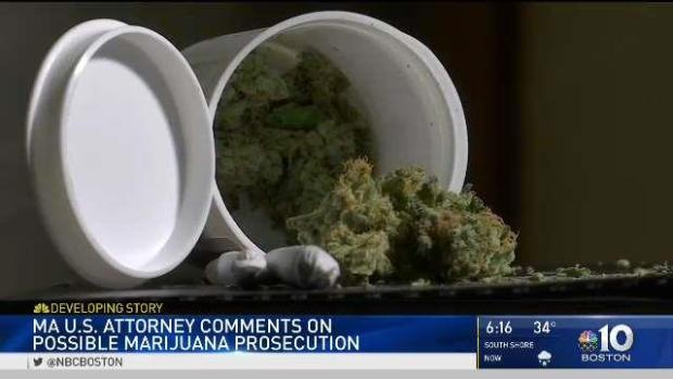 [NECN] US Atty: No Guarantee of Protection for Mass. Pot Business es