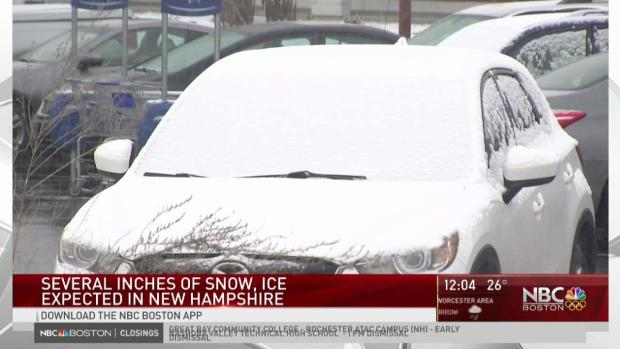 [NECN] Several Inches of Snow, Ice Expected in NH