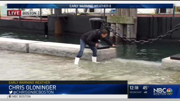 [NECN] 'King Tide' in Boston Causes Minor Wharf Flooding