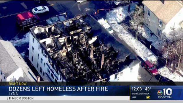 [NECN] Dozens Left Homeless After Lynn Fire