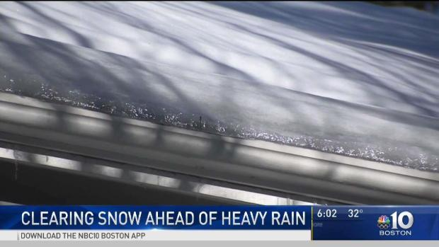 [NECN] Clearing Roofs of Ice Ahead of Heavy Rain