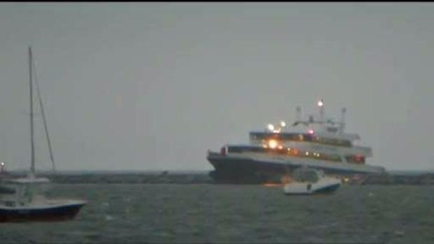 [NECN] Ferry Crashes At High Speed