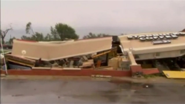 [NATL-CHI] Indiana Starbucks Flattened By Tornado