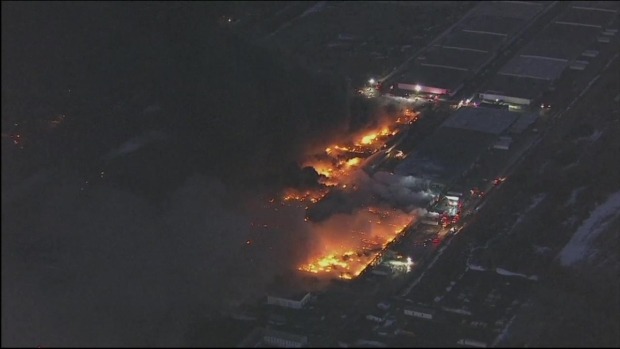 Warehouse Fire Rages in New Jersey