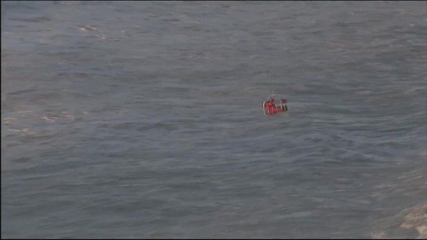 Coast Guard Rescue Off of Rockaway Beach