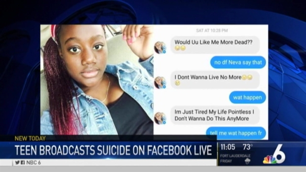 [NATL-MIA] Miami Gardens Teen Kills Herself Live on Social Media