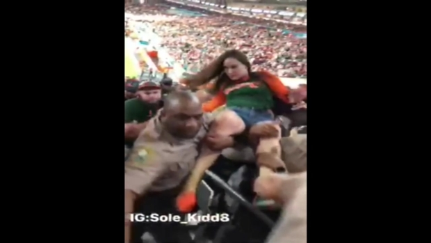 [NATL-MI] RAW VIDEO: Altercation Between Woman and Officer at UM Game