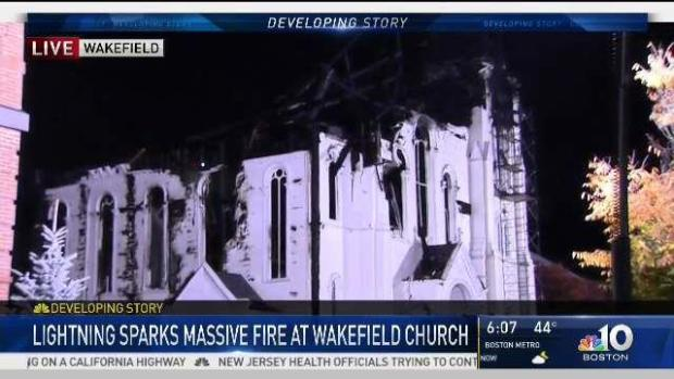 [NECN] Wakefield Residents Devastated by Church Fire