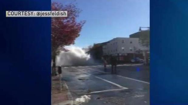 [NECN] Drivers Asked to Avoid Area of Water Main Break in Cambridge, Massachusetts