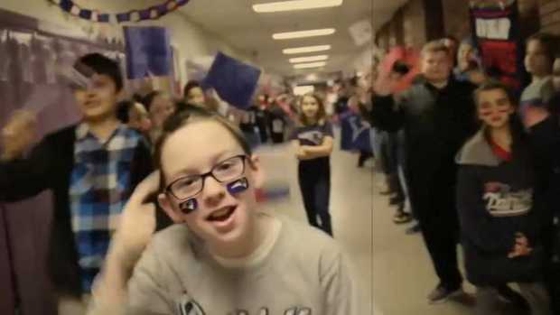 [NECN] Weymouth Middle School Goes Crazy for The Patriots
