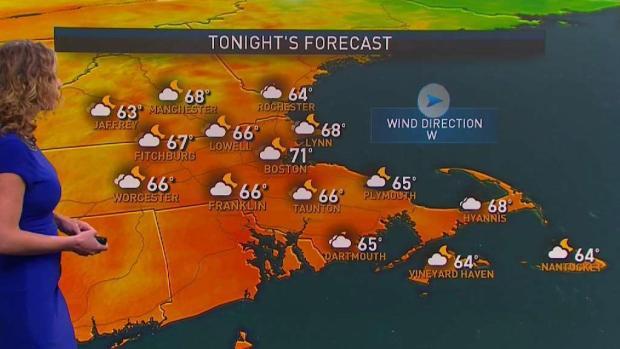 [NECN] Forecast: Warm, Less Humid Monday; Clouds Arrive Tonight