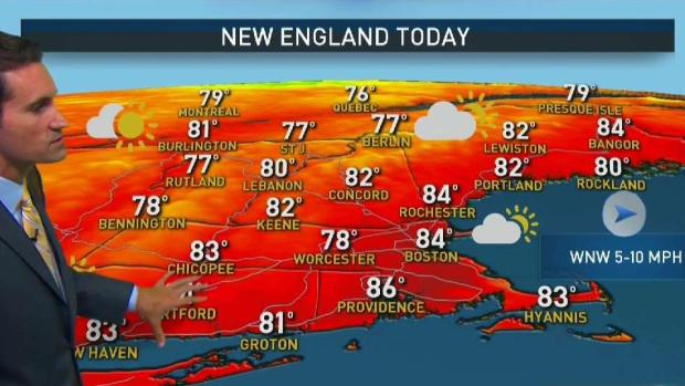 [NECN] Beautiful Sunday, Rain and Humidity Arrive Later This Week