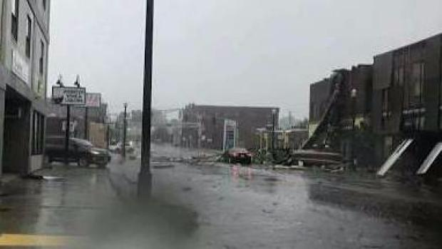 Woman Describes Possible Tornado in Webster