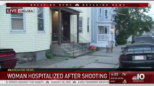 [NECN] Woman Hospitalized After Chelsea Drive-By Shooting