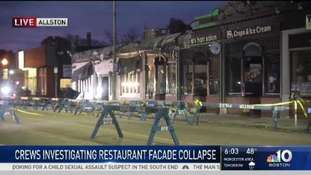 [NECN] Woman Injured After Boston Restaurant Facade Collapses