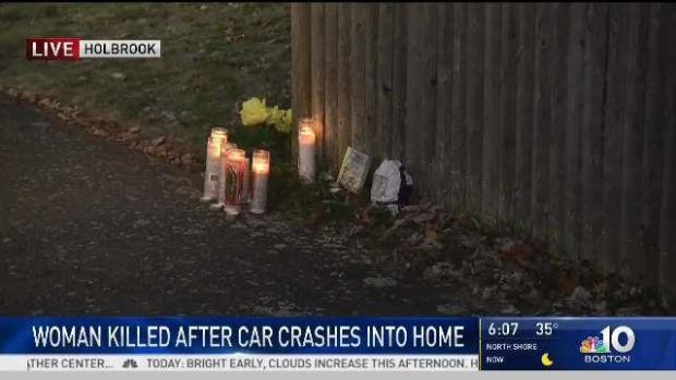 [NECN] Woman Killed After Car Crashes in Holbrook Home