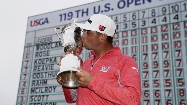 [NATL] Top Sports Photos: Woodland Wins US Open