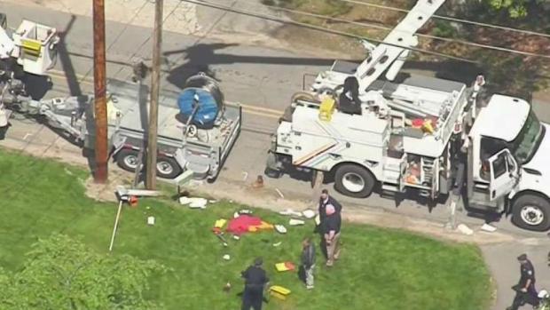 [NECN] Worker Injured When Bucket Truck Gets Close to Power Lines