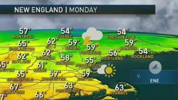 [NECN] Your Saturday Evening Forecast