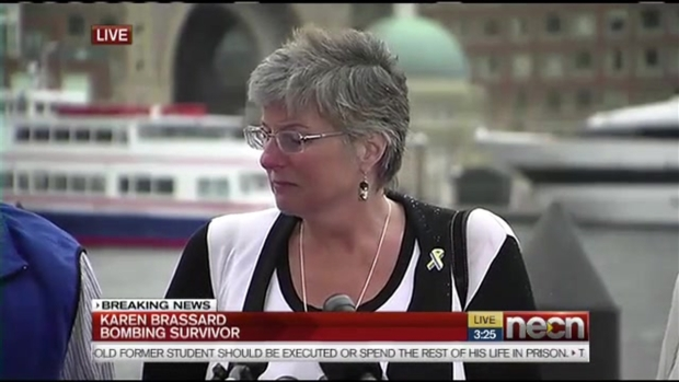 [NATL] WATCH: Karen Brassard, Boston Marathon Bombing Victim, Reacts to Verdict