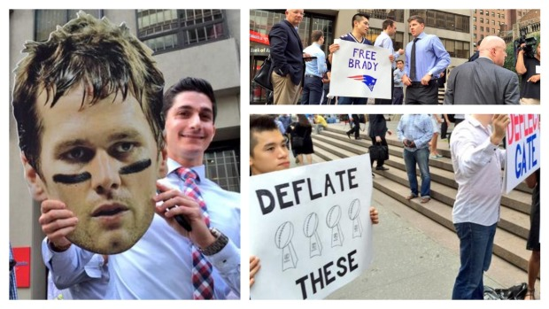 Pats Fans Show Support at Brady Appeal
