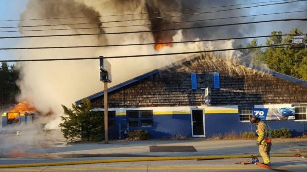 New Hampshire Tire Shop Fire
