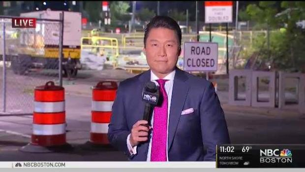 [NECN] MassDOT to Open all Four Lanes of 1-90 in Boston