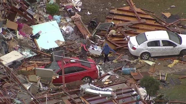 Raw Video: Storm Damage in Ellis County