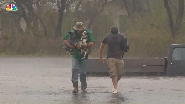 [NATL] Good Samaritans Rescue Woman and Her Dogs From Truck Stuck in Flood Waters