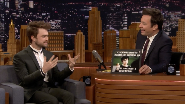 [NATL] 'Tonight': Daniel Radcliffe Reacts to 'Harry Potter' Memes