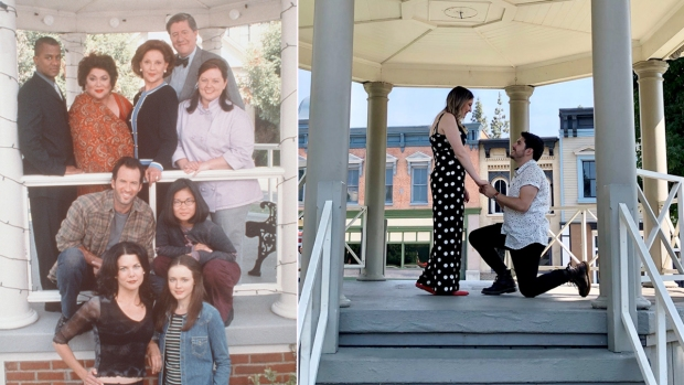 [NATL] 'Gilmore Girls' Fan Pulls Off the Perfect Stars Hollow Proposal