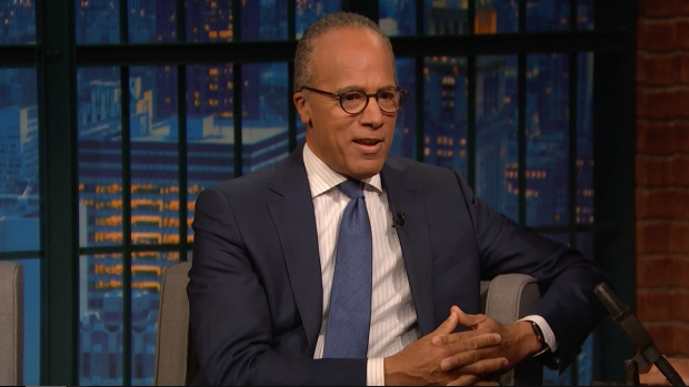 [NATL] 'Late Night': Lester Holt on Trump Calling Journalists Enemy of the People