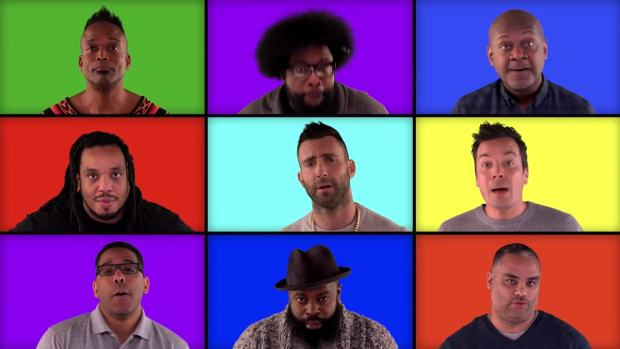 [NATL] 'Tonight': Fallon, The Roots and 'The Voice' Mashup