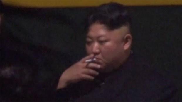 [NATL] N. Korea's Kim Jong Un Shown Smoking Despite Anti-Smoking Campaign