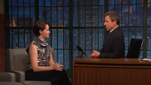 [NATL] 'Late Night': Claire Foy Says Queen Should Have Corgi Tattoo Sleeve